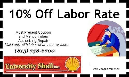 Discount on Labor Coupon. Ten percent off.